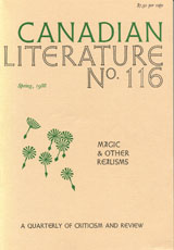 Cover of CanLit #116.