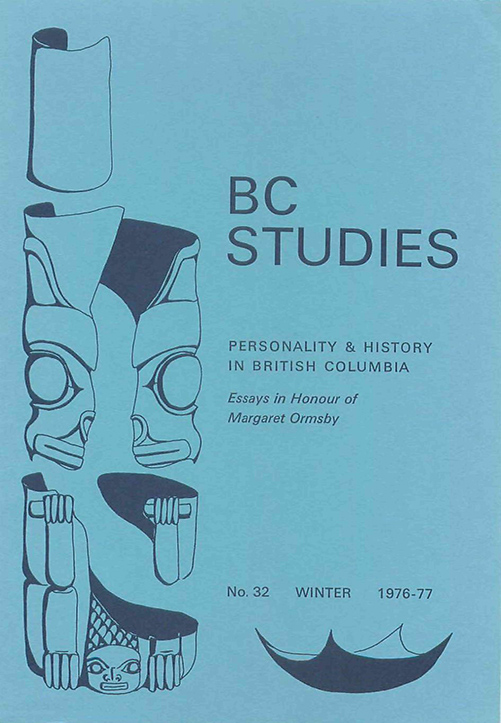 View No. 32: Personality & History in British Columbia: Essays in Honour of Margaret Ormsby, Winter 1976/77