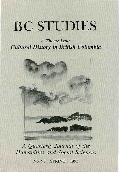 View No. 97: Cultural History in British Columbia, Spring 1993