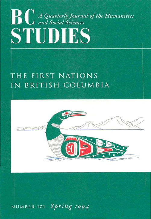 View No. 101: The First Nations in British Columbia, Spring 1994