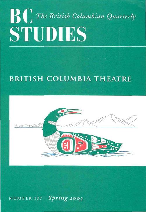 View No. 137: British Columbia Theatre, Spring 2003
