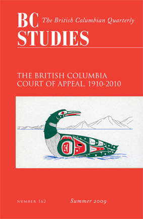 View No. 162: The British Columbia Court of Appeal, 1910-2010, Summer 2009