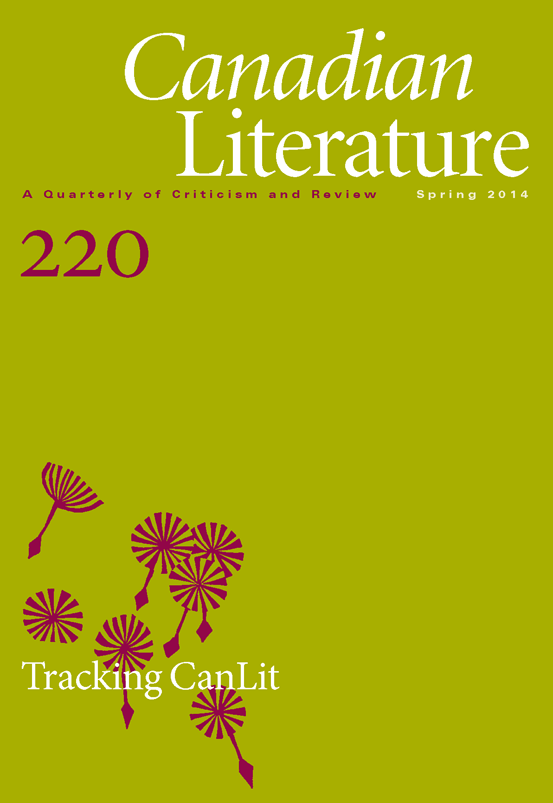 Canadian Literature: Tracking CanLit #220 Cover