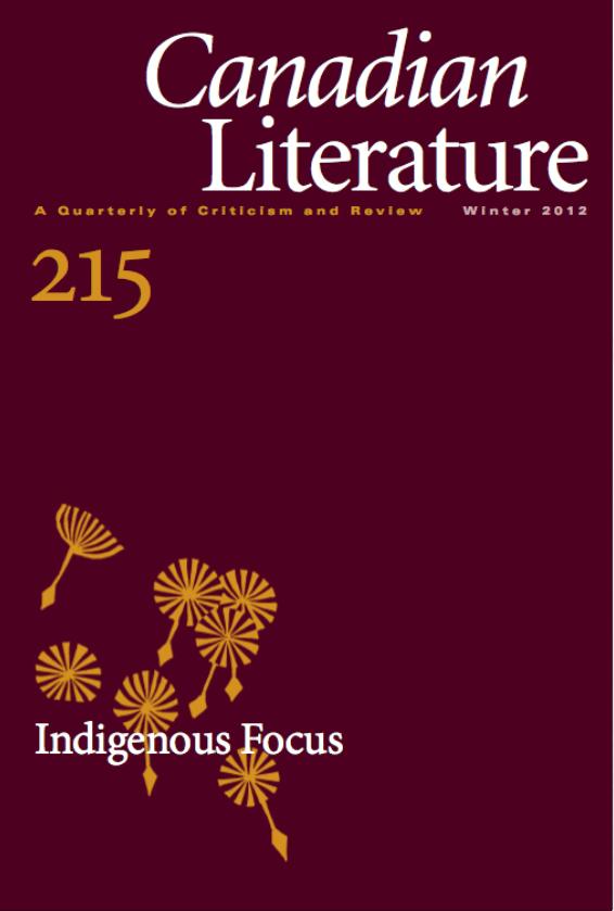 View No. 215 (2012): Indigenous Focus