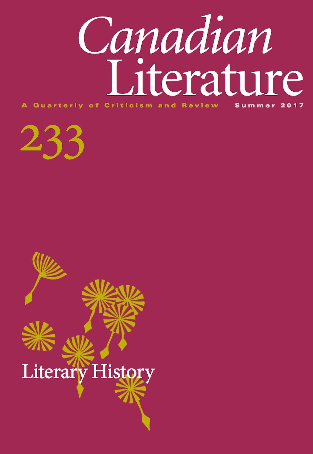View No. 233 (2017): Literary History