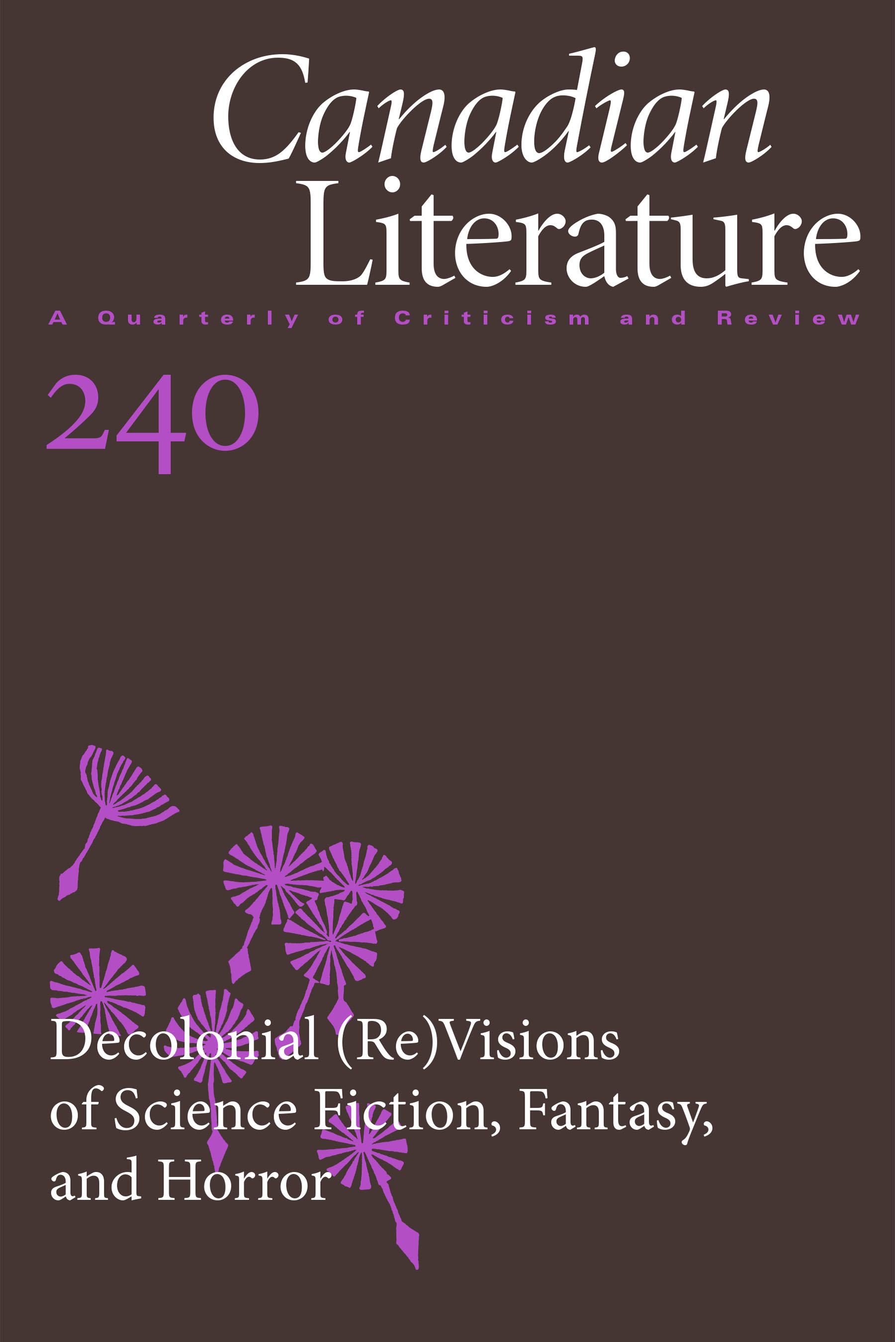 View No. 240 (2020): Decolonial (Re)Visions of Science Fiction, Fantasy, and Horror