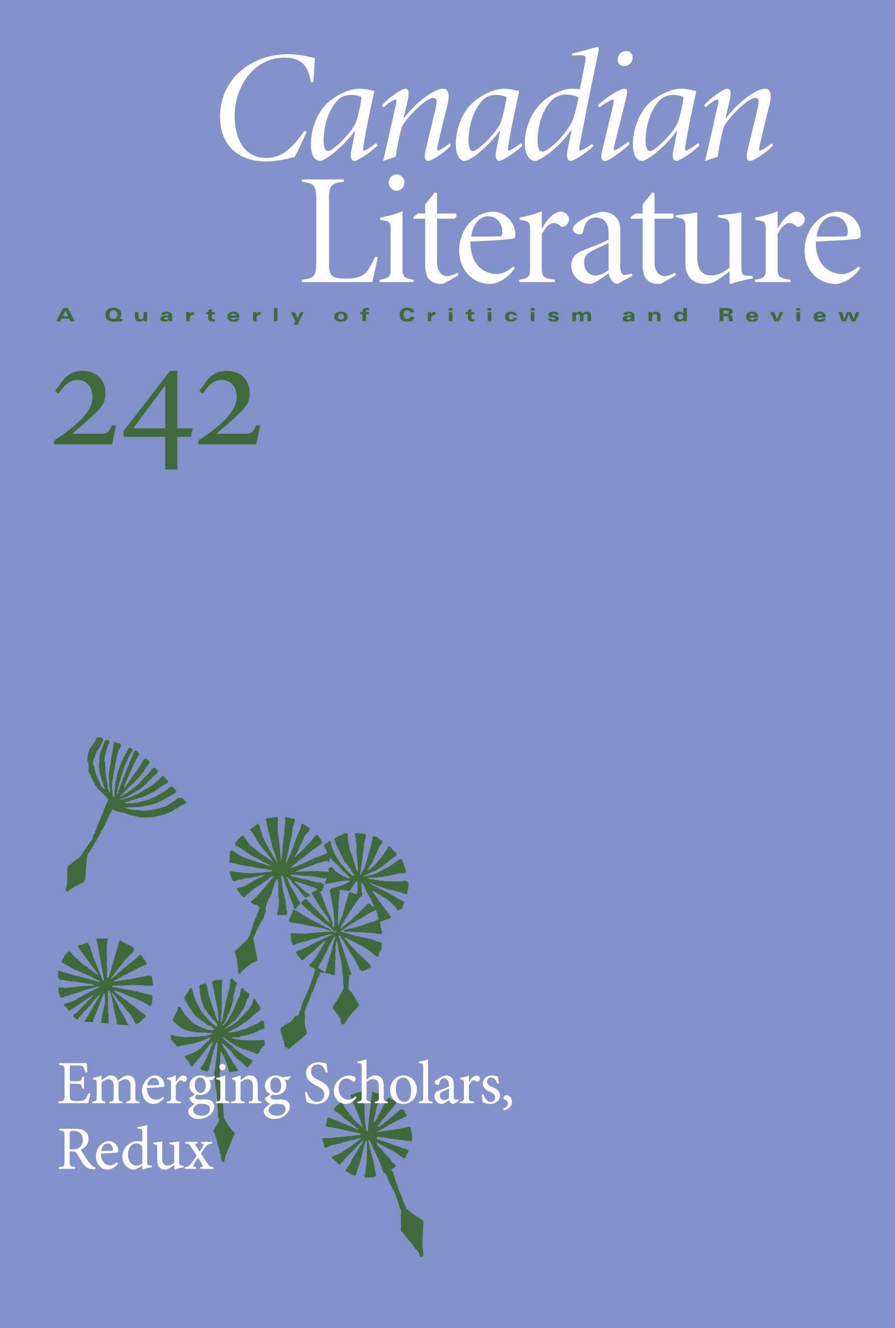 View No. 242 (2020): Emerging Scholars, Redux