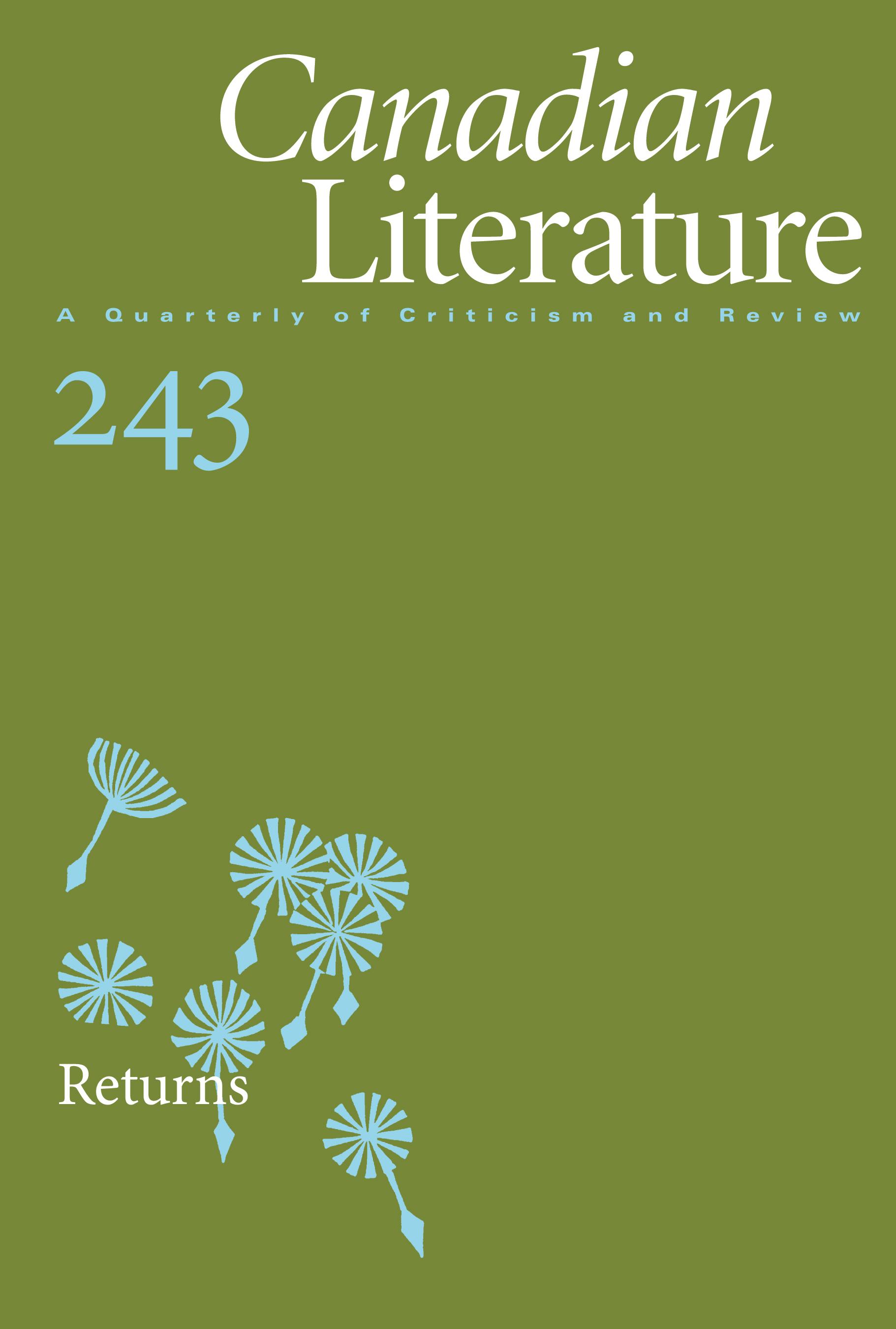 View No. 243 (2020): Returns