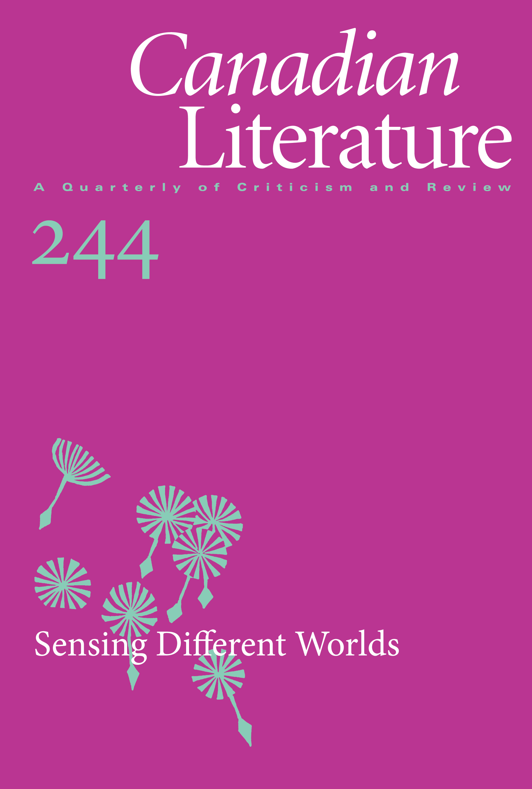 View No. 244 (2021): Sensing Different Worlds